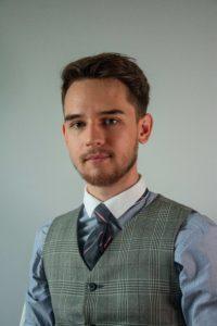 Cyprian Liske – student V roku prawa na Uniwersytecie Jagiellońskim oraz III roku lingwistyki na Wyższej Szkole Europejskiej