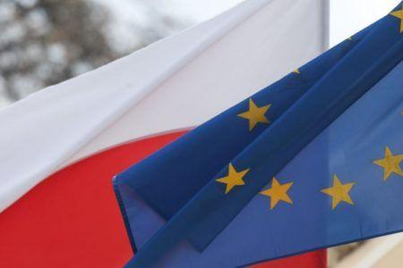 Flaga Polska i UE
